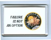 NASA Apollo 13 'Failure Is Not An Option' fridge magnet